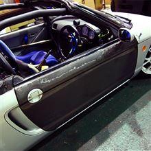 【PP1】【軽量化】運転席カーボンドア換装