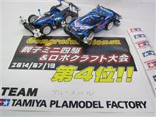 総合4位入賞 ミニ四駆 親子レース タミヤ新橋