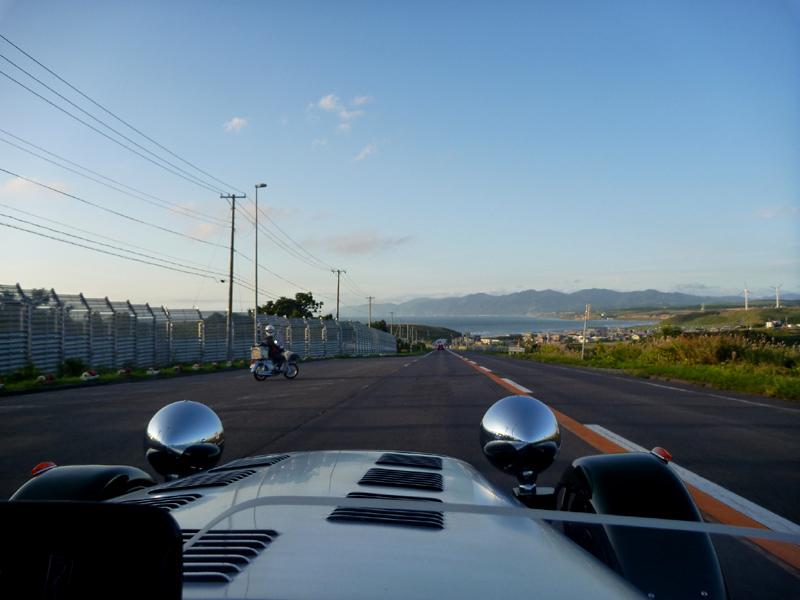 (ご)さん 国道231号 望来への下り坂