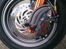 PCX純正サイズ(220mm径)でのフロントブレーキ強化
