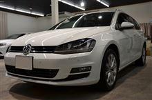 VWゴルフ7ヴァリアント新車磨きガラスコーティング【ラディアス上尾】