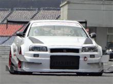 チーム九州男児R34GT-Rオートポリス走行テスト