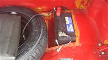 ミニバッテリー、トランクワイヤー交換
