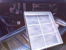エアコンフィルター掃除