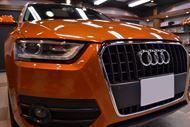 艶やかなオレンジ Audi Q3 のガラスコーティング【リボルト東京WEST】