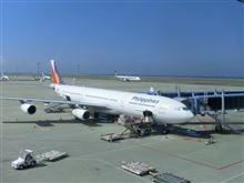 マニラ行きの飛行機