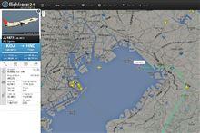 羽田RJTT到着機を観察中