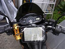 バイクにiPadmini車載