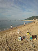 2014.9.21   須磨海岸にて…_| ̄|○