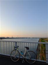 今日の朝ポタ(清砂大橋へ)
