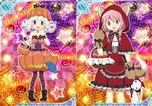【まどか☆マギカ】魔法少女たちのハロウィン衣装&マーチングバンド衣装姿可愛すぎィ!あ、赤ずきんチャチャじゃないんだからねっ!(`・ω・´)【モバまど新規絵】