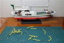 イカ釣り漁船のディテールアップ