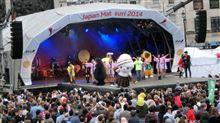 「 ぐんまちゃん 」、ロンドンの広場の、「 ジャパン祭 」に、参加~♪