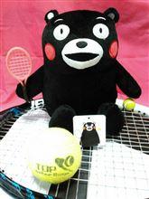 くまモンとテニス応援