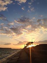 朝日が綺麗でした(*^^*)