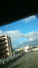 今朝は虹や!