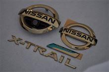T32エクストレイル ゴールドメッキエンブレム