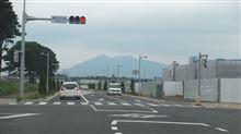 研究学園から見た筑波山