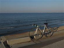 今日の朝ポタ(幕張の浜へ)