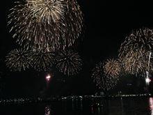 ベイサイドマリーナからの2014ふじさわ江の島花火大会