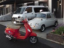 観光地はバイクに限る。(Vespaで沼津港)