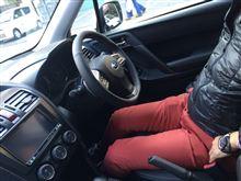 SJフォレスターにReiz Sports Steering 360s(ナッパレザー)