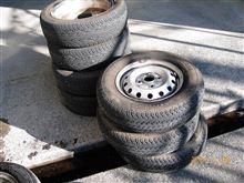 ひさびさタイヤを洗った。ついでにノータッチ