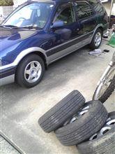 タイヤ交換...。