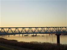 今日の朝ポタ(江戸川へ)