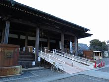 今日の夕方ポタ(法華経寺へ)