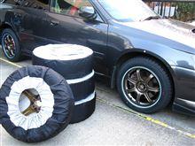 [タイヤカバー] 個包装タイプ(13~19インチ対応、持ち手付き)で収納良好の巻