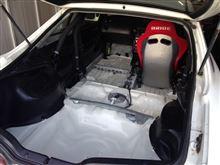 車の大掃除 フロア塗装とかホイール塗装とか・・・