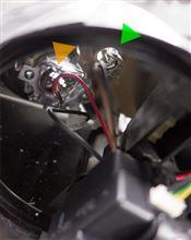 【307SW】運転席側ヘッドライト ポジションバルブ、ハイビームバルブ交換