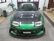 トヨタ スープラ(A80型)改造車、採寸と装着確認(完成)