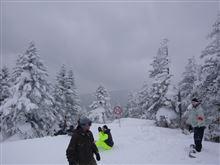 万座温泉でスキー合宿