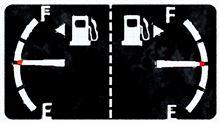 ガソリン給油口の位置が判らなくなったら「▲」の向きを確認すれば済む