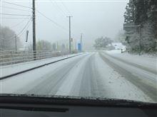 昨日は雪の中を北上