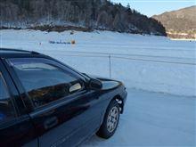 糠平湖氷上タイムトライアル