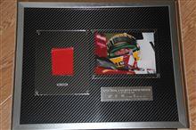 アイルトン・セナの1989年使用レーシングスーツ(の切れ端)