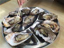 人生初の 焼き牡蠣