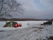 白鳥湖氷上走行会無事終了