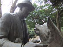 ハチ公と上野博士の像を見てきました