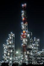 工場夜景 ~ 鹿島臨海工業地帯