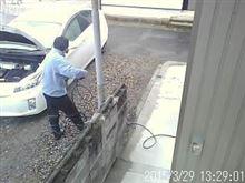 車検前 エンジンルーム洗車&下回り点検・・・・友人が^0^