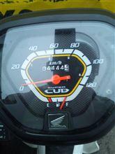 スーパーカブ110プロ、4,444km達成