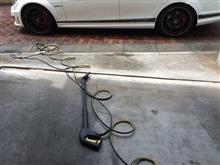 昨日はスタンド手洗い大盛況により3時間待ちと告げられ(≧∇≦)507自力洗車となりました(・´艸`・)・;゙.、ブッ本日気合いでオデは早朝におしかけ他力洗車となりました