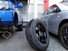 青ジムニーのタイヤを交換しました。(2015.4.18 ODO135527km)