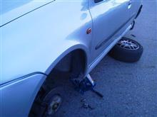 タイヤローテーション CLIO RS