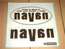 ナバーンのステッカー