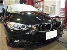 BMW4シリーズにクォーツガラスコーティング2層コートを施工しました。
